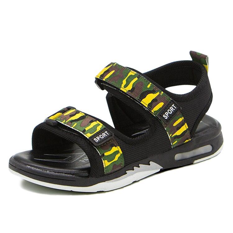 NEW 2018 Summer Children Shoes Non-slip Soft Bottom Breathable Kids Beach Shoes Open Toe Sandals For Boys & Girls Size 26-37
