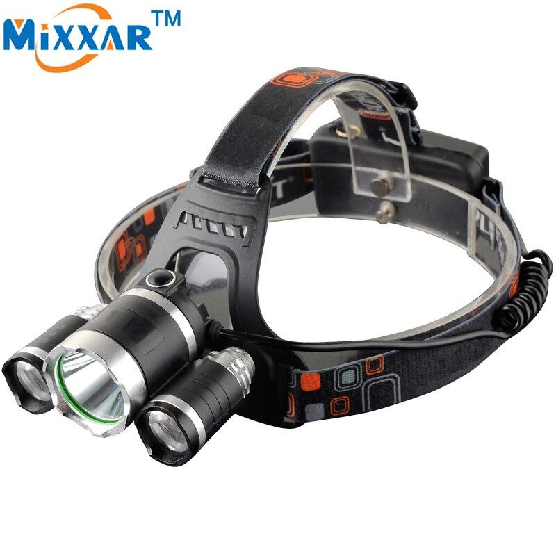 EZK10 13000Lumen 4 Modes LED Head Lamp T6+2*R5 Headlight Hunting Camping Fishing Light XML T6 Outdoor Head light Headlamp