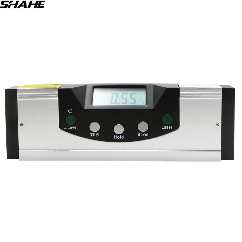 High Precision 360 degre Digital Spirit Level Magnetic laser level Electronic Protractor Level Machine Digital Level Angle Gauge цена