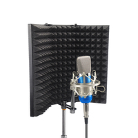 Recording Microphone Wind Screen Board Sound absorbing Cover Microphone Insulation Screen Sound proof Plate