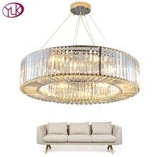 Youlaike Роскошные современное освещение люстры круглый принадлежности для хрустальных ламп жизни Обеденная светодиодный люстры де Cristal