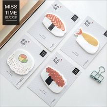 30Pcs/Pack Sushi Food Shape Memo Pad Self-Adhesive Sticky Notes Post It Bookmark Message note Sketch Pad School Office Supply