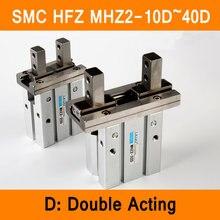 Pinza de aire de doble efecto HFZ MHZ2 10D 16D 20D 25D 32D 40D cilindro de dedo neumático, Tipo SMC abrazaderas de aluminio, diámetro de 10 40mm