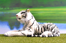 Simulation White Tiger Doll Stuffed Animals Toys For Children Gift 90cm