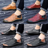 CIMIM Brand Shoes Men Large Size 38 47 Mens Casual Shoes Handmade Split Leather Men Flats