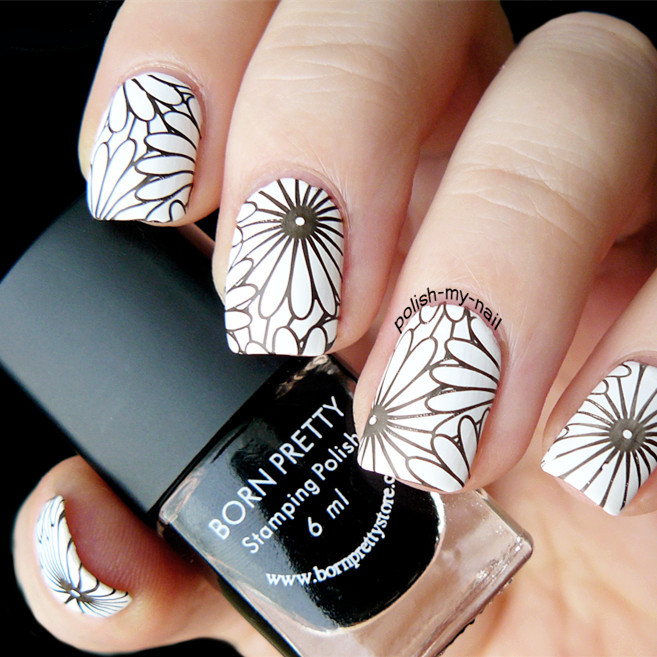 Flower theme nail art stamp template image plate rctangular flower theme nail art stamp template image plate rctangular stamping plates born pretty bp l024 125 x 65cm in nail art templates from beauty health on prinsesfo Image collections