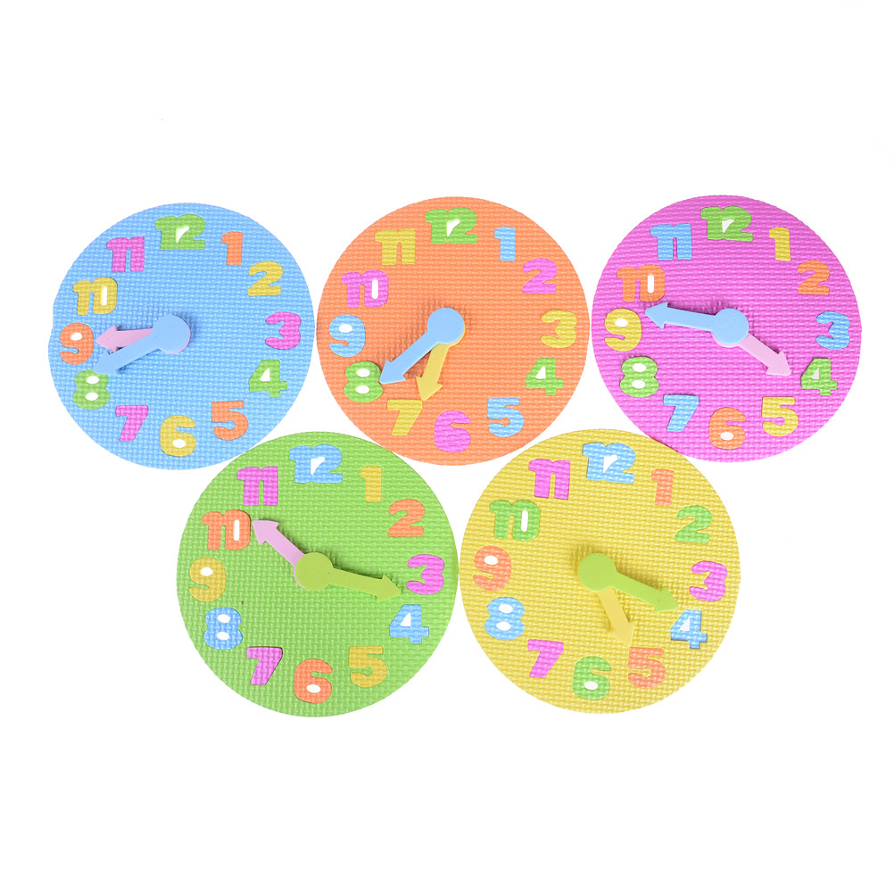 Eva Clock Learning Education Toys Dia 19cm Fun Math Game For Children Baby Toy