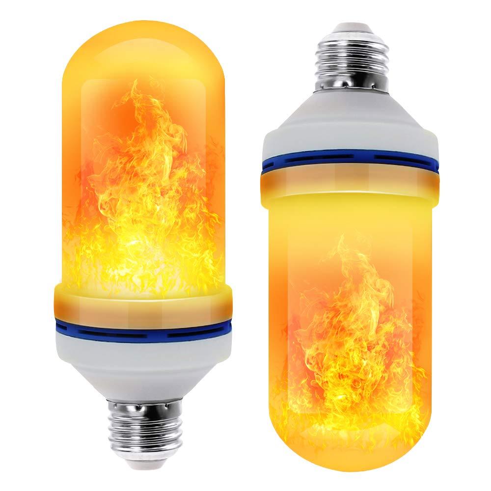 E27 85-265V LED Flame Effect Bulb Fire Light Gravity Sensor Corn Bulbs Emulation Decor Lamp Dynamic Light 4 Modes Creative Lampa