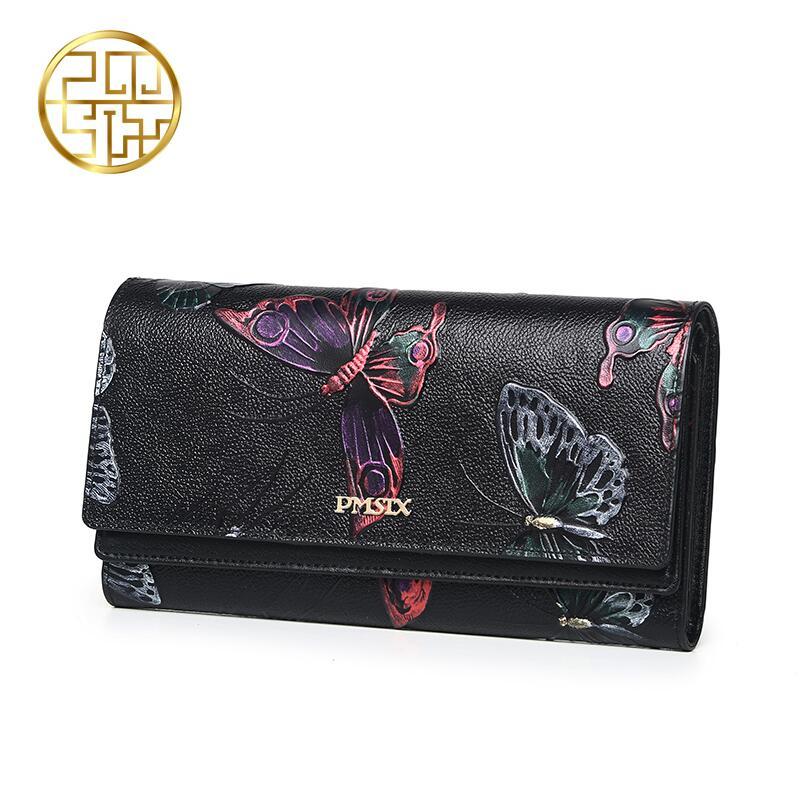 WunderschöNen Berühmte Marke Top Qualität Dermis Frauen Tasche 2016 Neue Mode Kupplung Brieftasche Schmetterlings-druck-minikleid Dreifache Geldbörse In Den Spezifikationen VervollstäNdigen Damentaschen Gepäck & Taschen