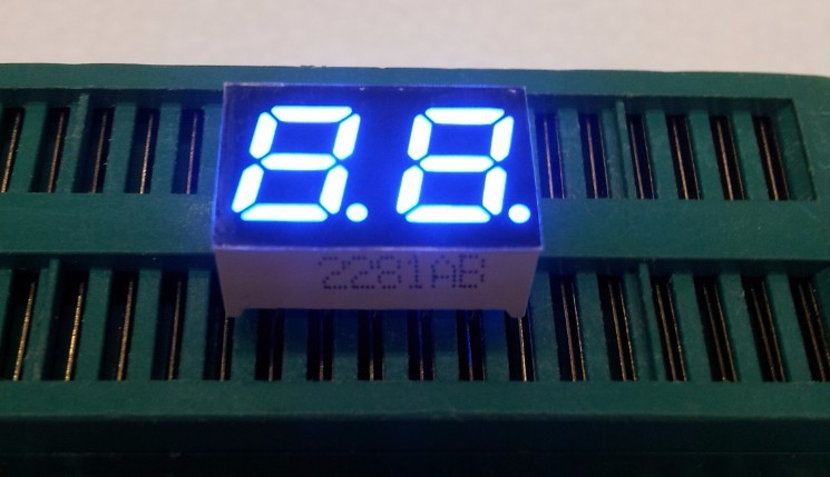 Free Ship brand new 100pc Common cathode/Common anode 0.28inch digital tube 2 bit digital tube display best digital tube blue