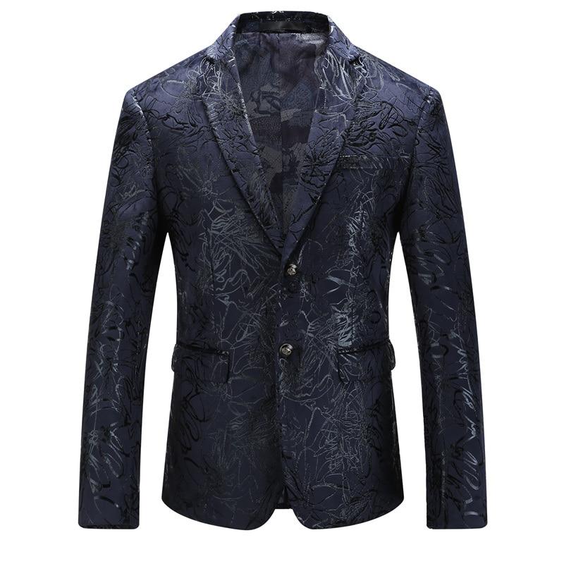 Plyesxale-Mens-Floral-Blazer-2018-Slim-Fit-Men-039-S-Blazers-And-Suit-Jackets-4Xl-5X