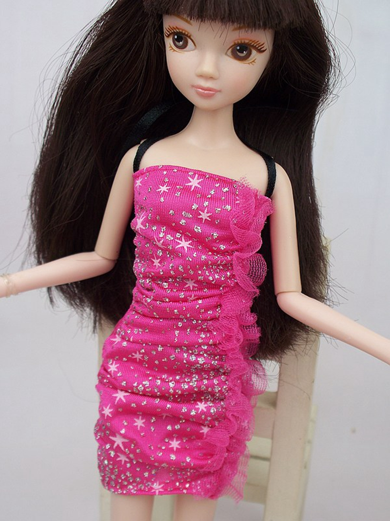 Style Doll Clothes Mini Gown Garments For Barbie Dolls One Piece Becoming Vestidos Occasion Attire For 1/6 BJD Doll Attire