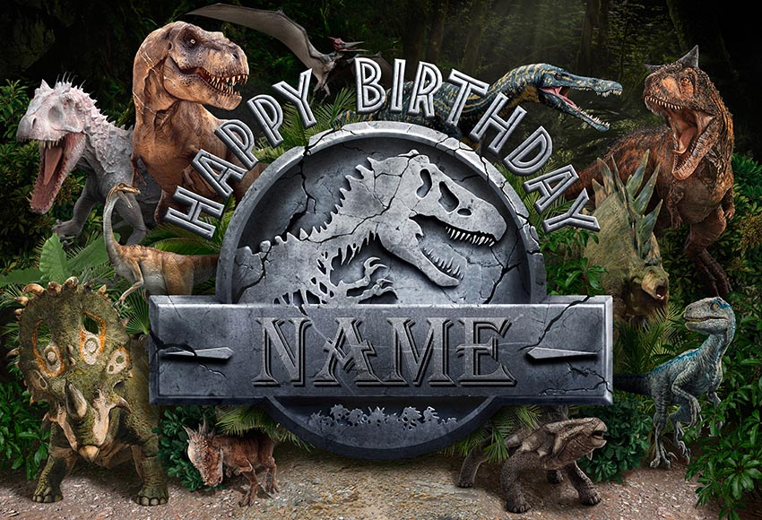 Image 2 - NeoBack Vinyl Photography Backdrops Custom Jurassic Park World Dinosaur Birthday Background Party Backdrops Photo Studio-in Background from Consumer Electronics