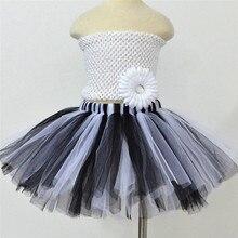 Black and White Girl Skirt 1-10Y Mini Skirts New Baby Tutus Kids Girls Dancewear Cute Pettiskirt Princess Tulle Girl Tutu Skirt