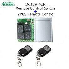 433 мГц Универсальный беспроводной пульт дистанционного управления DC 12 В в 4CH релейный ресивер Модуль и 2 шт. RF передатчик мГц 433 МГц пульт дистанционного управления s