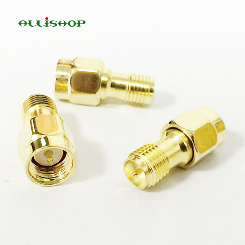 ALLiSHOP RF SMA Straight Goldplated SMA Male Plug to RP-SMA Female Jack RF Coax Adapter Convertor For WIFI GPS Antenna CellularALLiSHOP RF SMA Straight Goldplated SMA Male Plug to RP-SMA Female Jack RF Coax Adapter Convertor For WIFI GPS Antenna Cellular