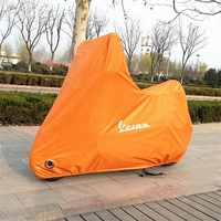 Motorcycle Cover Waterproof Dustproof UV Protective Outdoor Indoor Lock holes Motorbike Rain Cover for Vespa Sport GTS300 GTV