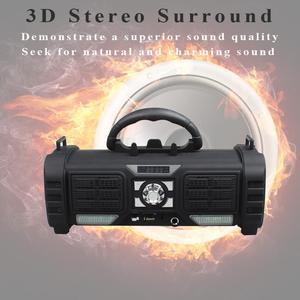 Image 5 - Yilinesye Portable bluetooth Speaker Support TF card FM radio wireless Waterproof column Subwoofer soundbar for Computer speaker