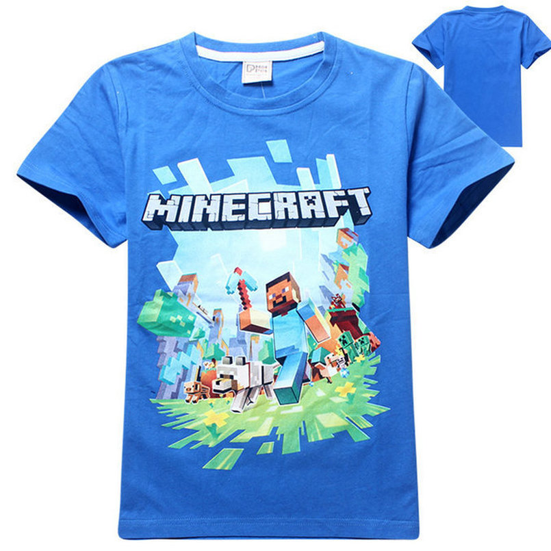 19016028be72 Νέα 2018 Minecraft καλοκαίρι Tops Kid αγόρια Κορίτσια t πουκάμισο ...