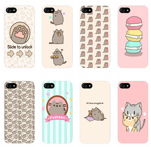 the best attitude 1d1e5 54104 cute funny lovely Pusheen Cat TPU Silicone Phone Cover for iPhone 7 7Plus  Pusheen Case for iPhone 7 5S 5 SE 6 6S Plus cases-in Half-wrapped Case from  ...