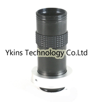 Industry Lens Max 120X 750mm C Mount Glass Lens with 50mm Ring Adapter Holder for Industry Lab Microscope Camera CCTV