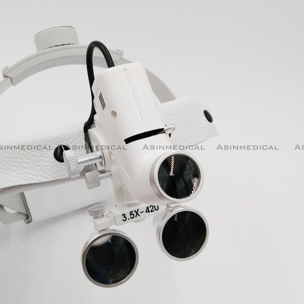 헤드 라이트 램프가 장착 된 치과 용 루페 하이 스포트가 장착 된 수술 용 루페 헤드 헤드 라이트 AC / DC (루페 포함)