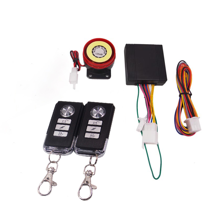 Engine Start Motorcycle Anti-theft Security Alarm System With Remote Control DC 12V Motorbike Moto Scooter Motor Alarms 1 Way