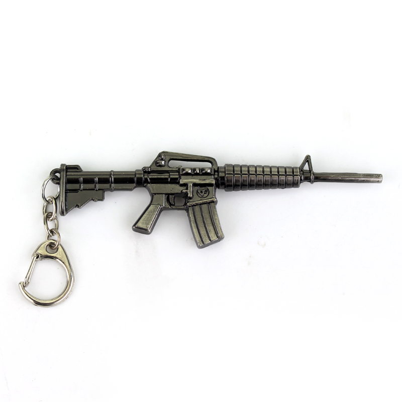 10pcs Armas Pistola Scale Models Cf Online Games Around The Hot Cross Fire Guns Pendants Counter Strike keychain