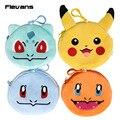 Monstro Pikachu/Charmander/Bulbasaur/Squirtle Pelúcia Saco Macio Bonecas Pingente com Keychain 5 pçs/lote 12 cm