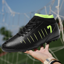 Football Shoes Kids Soccer Shoes New Adults Men's Outdoor Soccer Cleats High Top TF Football Boots Training Sports Sneakers adidas original new arrival official goletto tf hard wearing men s football soccer shoes sports sneakers by2721 aq4302
