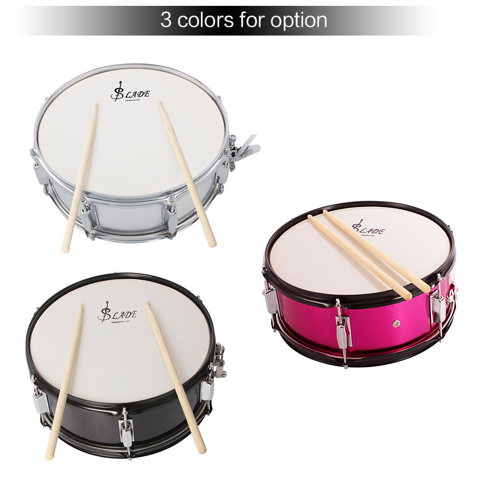 High Quality 14 inch Snare Drum head Professional Snare Drum Head with Drumstick Drum Key Strap