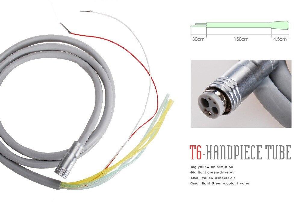 Free Shipping Dental Silicone Tube Hose Tubing 6 Hole Fit Fiber Optic LED High Speed Handpiece