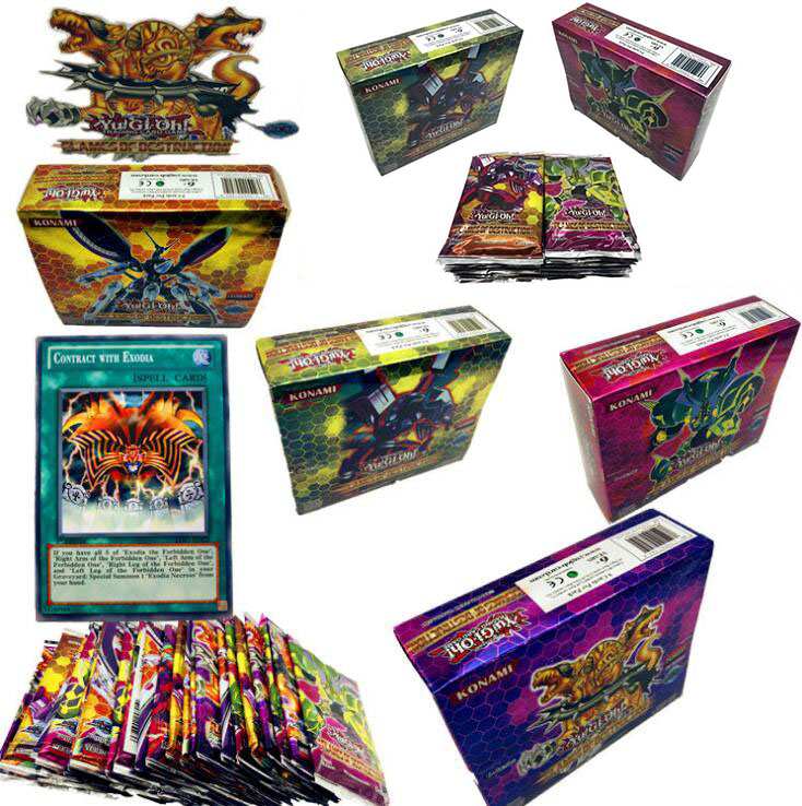 45/90 Pcs Game Ygo Yugioh Playing Card Cartoon Cards Yugioh Gaming Card Japan Boy Girls Yu-gi-oh Cards Collection Toys Gift Hobby & Collectibles