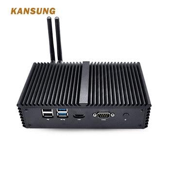 KANSUNG 4 Lan Mini PC Core i7 4500U Haswell WiFi Fanless Desktop Computer Firewall Linux Ubuntu Micro PC