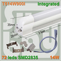 20pcs/lot free shipping LED tube T5 integrated 3ft 0.9m 14W surface mounted with accessory for lamp to lamp Milky Clear Cover