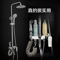 Full copper shower shower set bathroom big spray head with spray gun pure copper air can boost the four gear