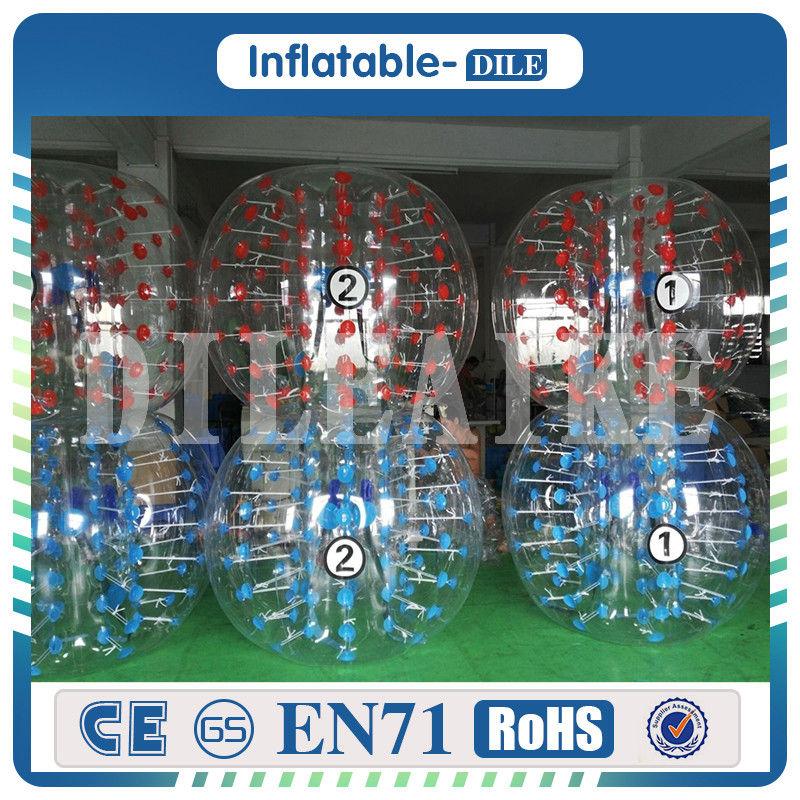 Free Shipping PVC 1 5m Inflatable font b Football b font Bubble Ball Bumper Ball Body