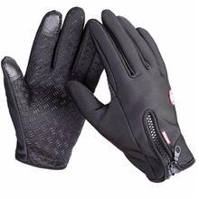 Kvalitní zimní unisex rukavice se zipem, větru odoloné