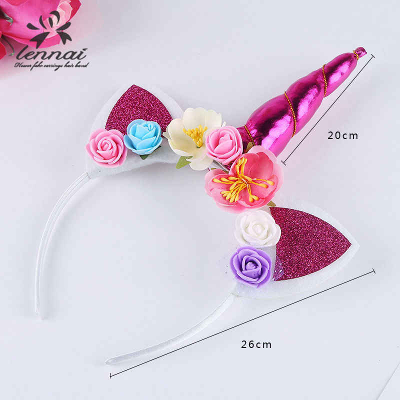c5545af7d0e ... 2018 Brand New Fashion Sweet Lovely Magical Cartoon Horn Floral Head Party  Kid Headband Fancy Dress ...