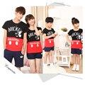 Vestido a juego familia padre madre hija hijo pack look clothing sets personaje de moda de verano de manga corta camisetas + pantalones