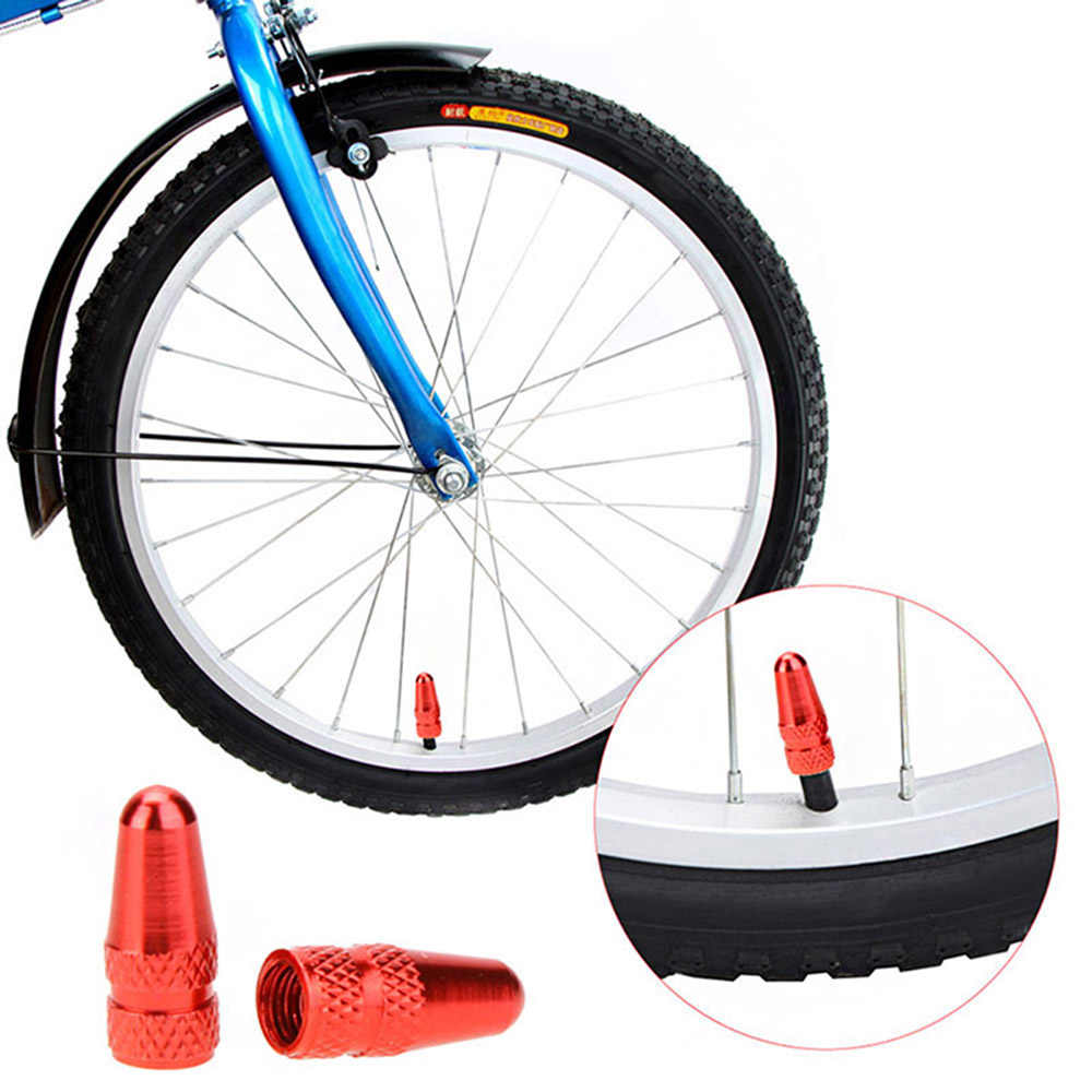 2pcs אלומיניום סגסוגת MTB אופניים כביש אופני Presta שסתום פה כיסוי צמיג גלגל חישוקים גזע שסתום אוויר אבק כובע