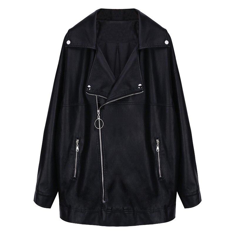 Cuir Moteur Veste 4xl Black Noire Lâche Européenne Femmes Taille En Manteau Xs Pu Femelle Ami Oversize Vestes Manteaux Rock Grande Rétro Petit zwFCqwI