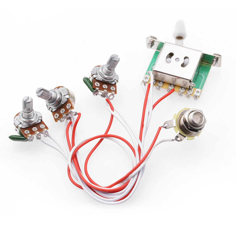 electric guitar pickup harness pickup 1v2t 5 way switch 500k  3 pickup guitar wiring harness prewired