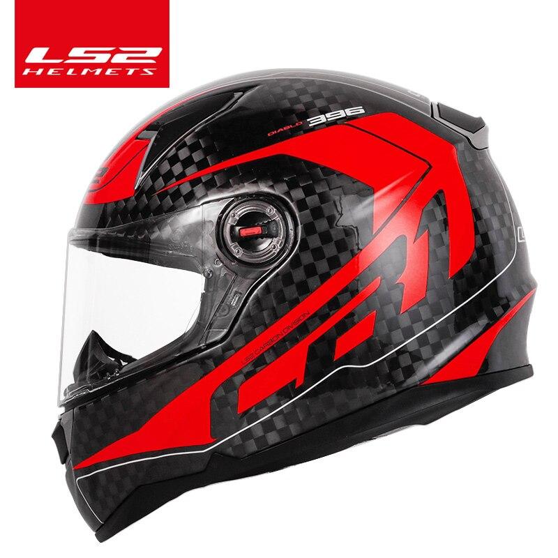 LS2 FF396 en fiber de carbone moto rcycle casque LS2 CT2 casque intégral et FF323 12 K même matériel casco casque moto pas de pompe