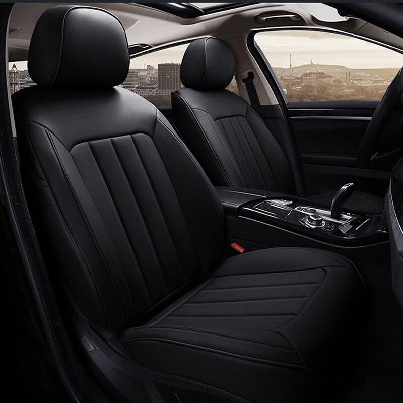 LCRTDS housse de siège de voiture universelle en cuir pour Cadillac cts xts xt5 ats sls ct5 ct6 escalade 2018 2017 2016