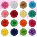 AJP 1piece pompon Tissue Paper Pom Poms Flower Balls for wedding room Decoration Party Supplies diy craft paper flower