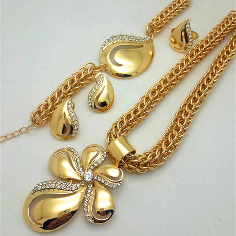 ZuoDi NEWS Saudi gold color Nigerian Wedding Jewelry Set Bridal ...