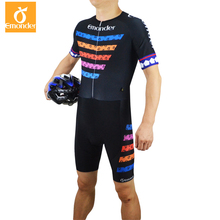 EMONDER Pro Team Triathlon Cycling Skin suit Mens Bike Bicycle Sports Clothes Riding Clothing Set New Running Swimming Jumpsuit
