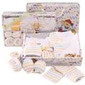 Vendas hot new style 10 pcs roupas conjunto presente do bebê recém-nascido roupas 100 algodão infantil bonito frete grátis