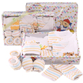 hot sales new style 10 pcs newborn baby clothes gift set 100 cotton cute infant clothing  free shipping